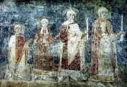 Illustration 4: The family of Prince Jaroslav the Wise (978-1054). 11th century fresco from Kiev's Cathedral of St. Sophia.