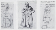 "Illustration 108: Costume Sketches for ""Boris Godunov"""