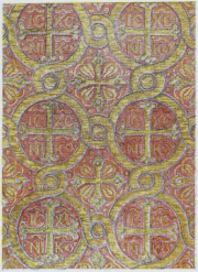 Color Plate 1: Byzantine fabric, 10th century