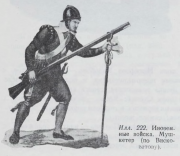 Illustration 222: Foreign troops. Musketeer.