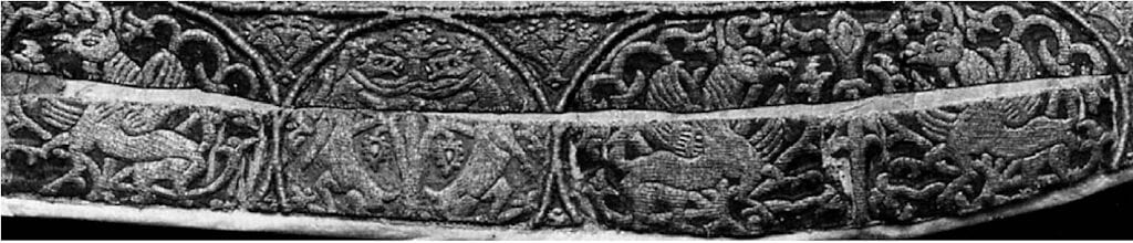 """Border of the """"Chasuble of Anthony the Roman,"""" 12th c."""