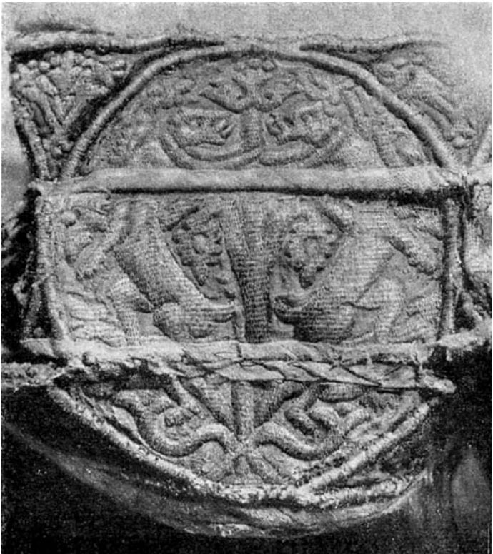 """Detail, border of the """"Chasuble of Anthony the Roman,"""" 12th c."""
