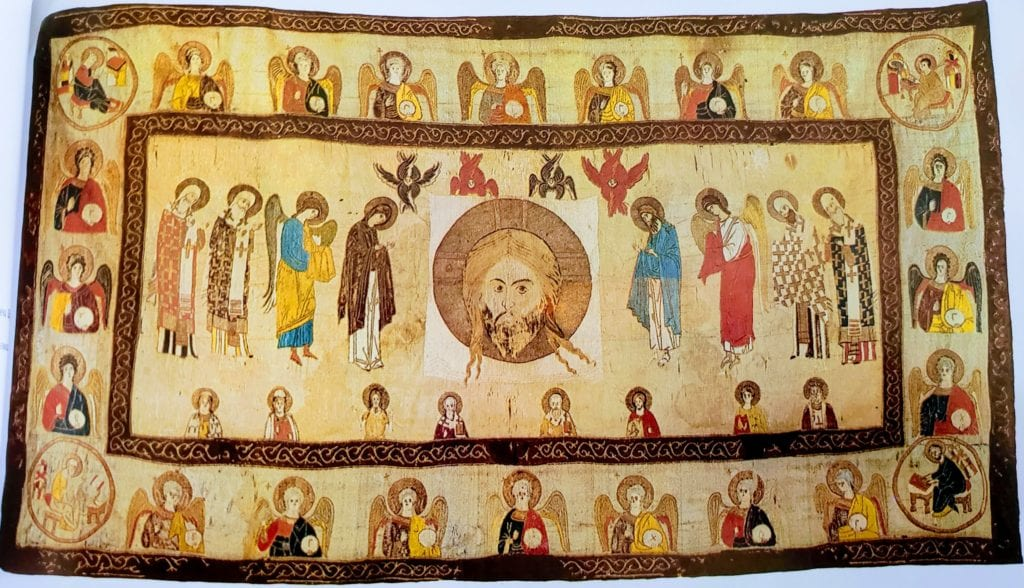 Savior Not Made By Hands, with the Forthcoming. Aër, 123 x 230 cm, 1389, Moscow From the collection of P.I. Schukin. State Historical Museum (1rb).