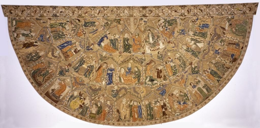 Cope of Pope Pius II. England, 1316-1320. Diocesan Museum, Pienza, Italy.