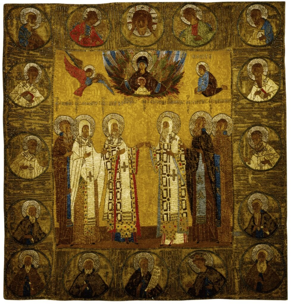 Our Lady of the Burning Bush, with Selected Saints. Podea (Sudarium?). 1480s.Russian Museum, St. Petersburg.