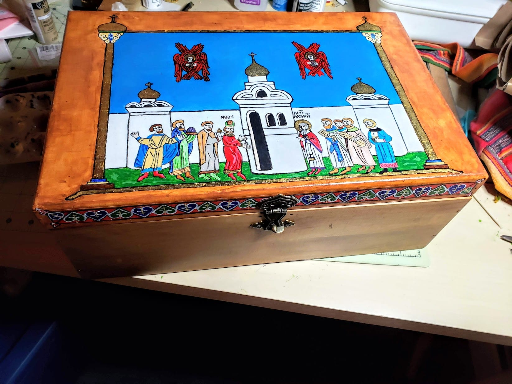 Radziwiłł Chronicle-inspired Painted Chest