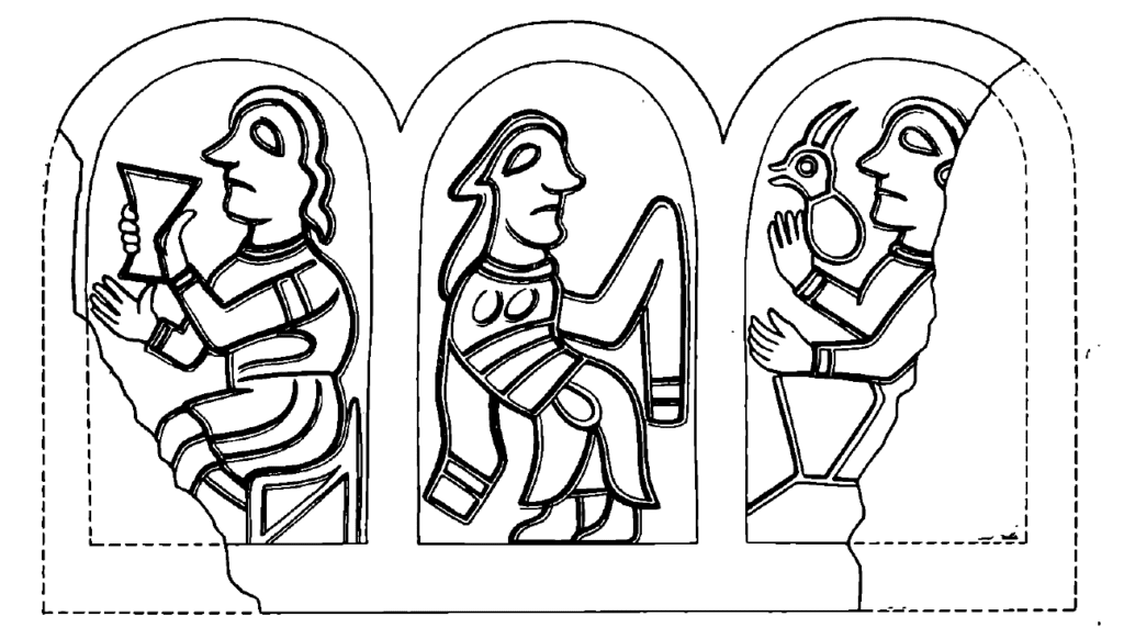 Reconstruction of the design on a bracelet based on a casting mold from Serensk, 12th century.