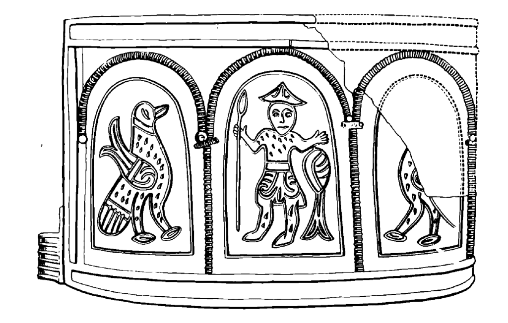Drawing of a 12th century bracelet from Demidovo.