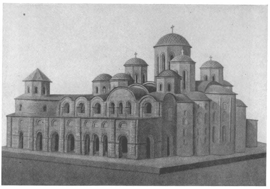 Reconstruction of Kiev's St. Sophia Cathedral, built 11th cent.