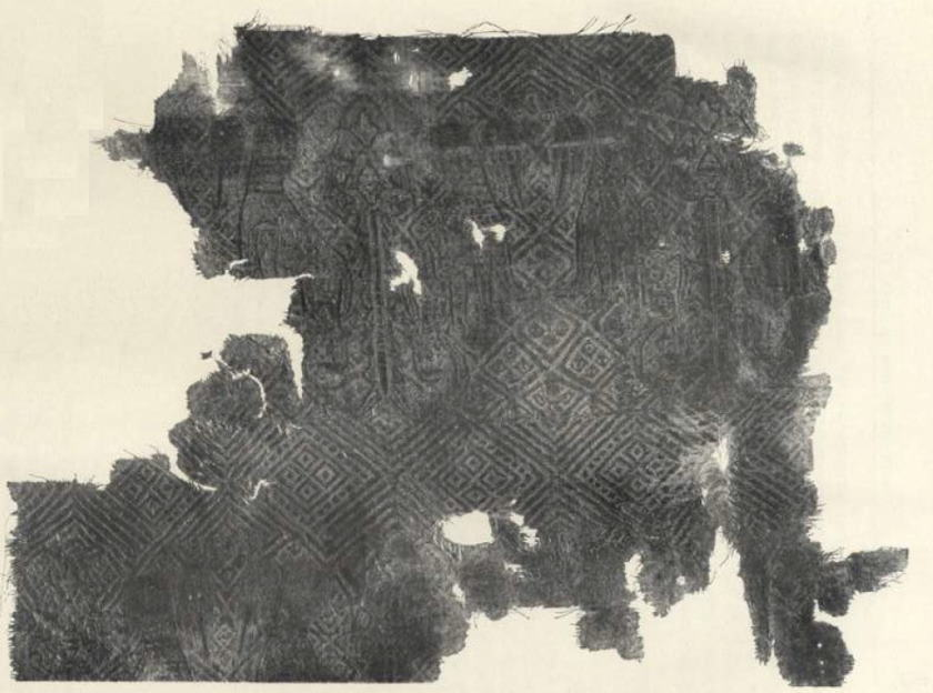 Illustration 1. Fragment of samite from the tomb of Prince Andrey Bogolyubsky (1175).