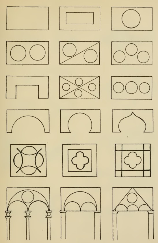 Illustration 9: Architectural motifs from Byzantine Style and Cyrillic manuscripts.