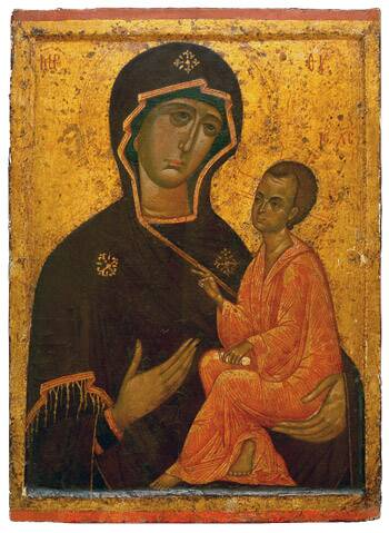 The Tikhvin Icon of the Mother of God, 14th cent.(?).